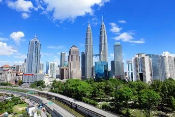 Social Post-Kuala Lumpur skyline